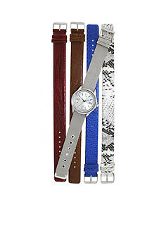 Kim Rogers Silver-tone A Classic Time with interchangeable strap Watch