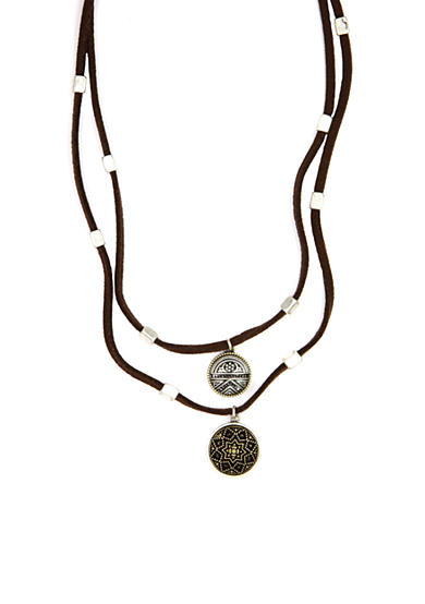 Nine West Vintage America Collection Double Pendant Necklace