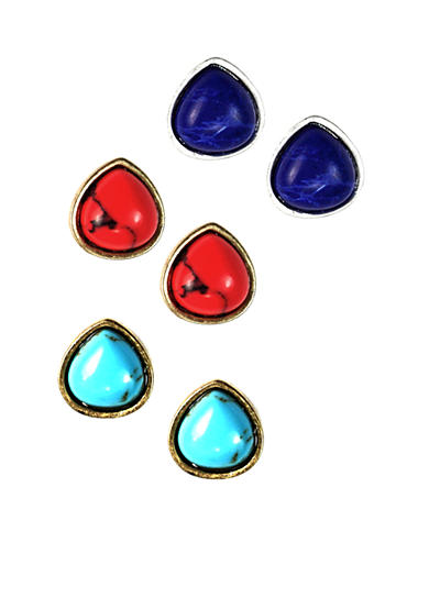 Nine West Vintage America Collection Stud Earring Trio
