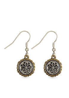 Nine West Vintage America Collection Coin Drop Earrings