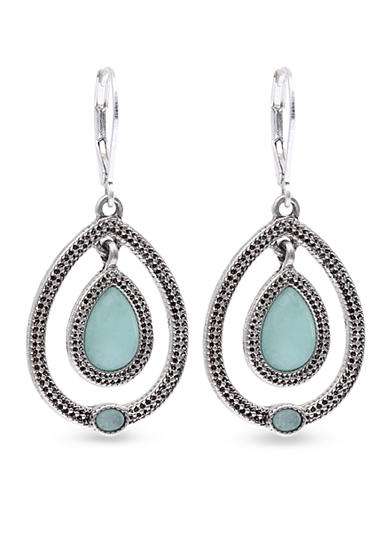 Nine West Vintage America Collection Stone Drop Earrings