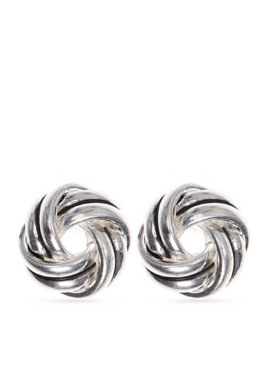 Nine West Vintage America Collection Silver-Tone Pretty Penny Stud Earrings