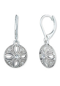 Nine West Vintage America Collection Silver-Tone San Tropez Drop Earrings