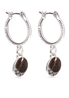 Nine West Vintage America Collection Silver-Tone North Shore Small Hoop Earrings