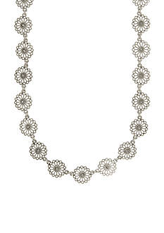 Nine West Vintage America Collection Silver-Tone Starlight Metals Crystal Collar Necklace