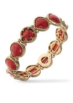 Nine West Vintage America Collection Gold-Tone Coral Stretch Bracelet