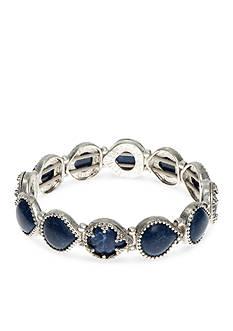 Nine West Vintage America Collection Silver-Tone Blue Stretch Bracelet