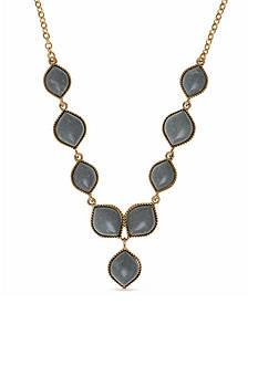 Nine West Vintage America Collection Gold-Tone Bazaar Bounty Gray Y Necklace