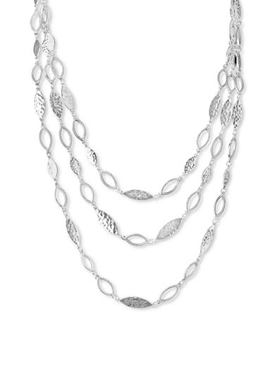 Nine West Vintage America Collection Silver-Tone In The Mix Multi Row Layered Necklace