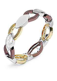 Nine West Vintage America Collection Tri-Tone In The Mix Stretch Bracelet