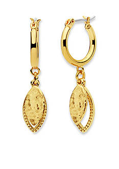 Nine West Vintage America Collection Gold-Tone In The Mix Drop Off Hoop Earrings