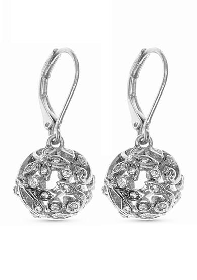 Nine West Vintage America Collection Silver-Tone Round About Ball Drop Earrings