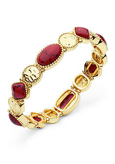 Nine West Vintage America Collection Gold-Tone Fire Falls Coral Stretch Bracelet