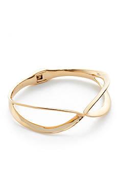 Trina Turk Gold-Tone Hinge Infinity Bangle Bracelet