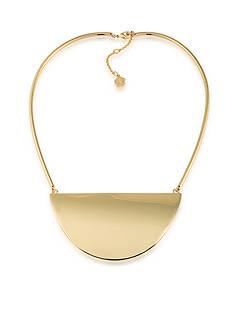 Trina Turk Gold-Tone Retro Modern Half Circle Collar Necklace