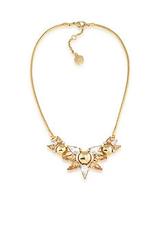Trina Turk Gold-Tone Sparkle and Shine Cluster Frontal Necklace