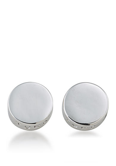 Trina Turk Silver-Tone Round Stud Earrings