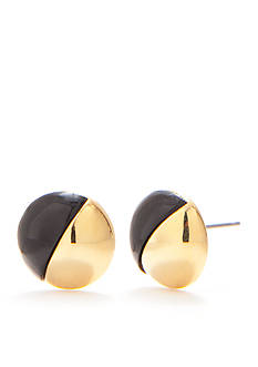 Trina Turk Resin Button Earrings