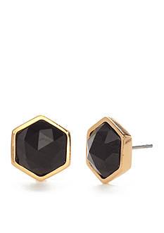 Trina Turk Black Hexagon Stud Earrings