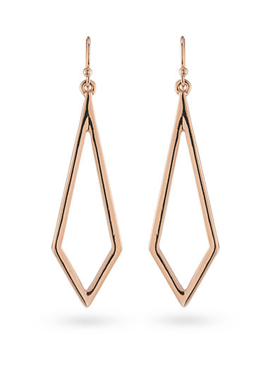 Trina Turk Rosegold Recolor Drop Pierced Earrings