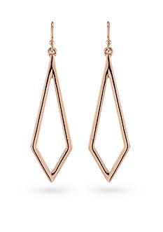Trina Turk Rosegold Recolor Drop Pierced Earrings
