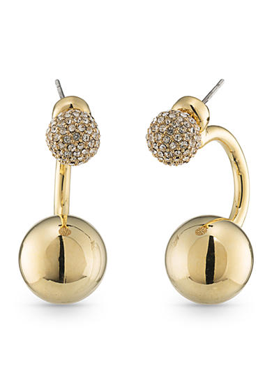 Trina Turk Gold-Tone Sparkle and Shine Front Back Earrings