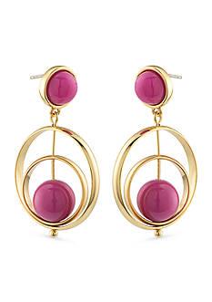 Trina Turk Gold-Tone Purple Gypsy Double Drop Earrings