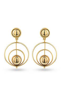 Trina Turk Gold-Tone Gypsy Double Drop Earrings