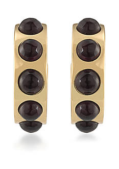 Trina Turk Gold-Tone Neo Goth Cab Hoop Earrings