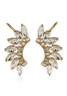 Trina Turk Cabaret Clear Ear Climber Pierced Earrings