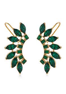 Trina Turk Cabaret Green Ear Climber Pierced Earrings