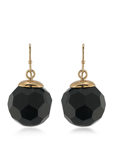 Trina Turk Gold-Tone Metal Cabaret Bead Drop Earrings