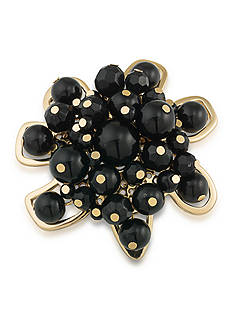 Trina Turk Gold-Tone Neo Goth Black Cluster Pin