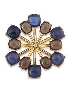Trina Turk Gold-Tone Retro Stone Cluster Pin
