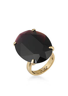 Trina Turk Gold-Tone Neo Goth Purple Oval Ring Size 7