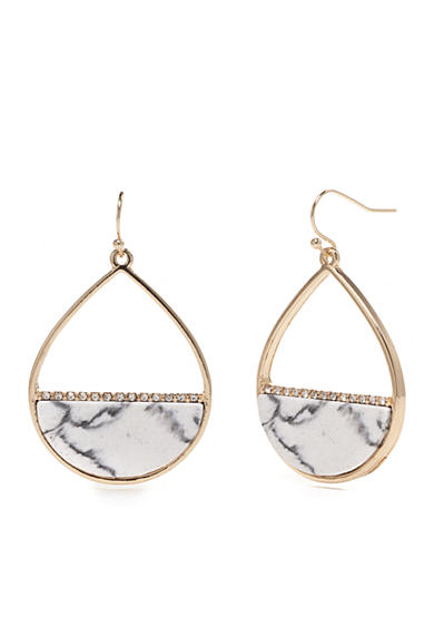 New Directions® Gold-Tone Stingray Teardrop Earrings