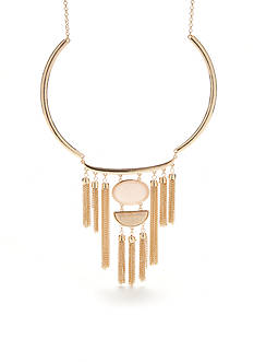 New Directions Gold-Tone Pur Blush Statement Necklace