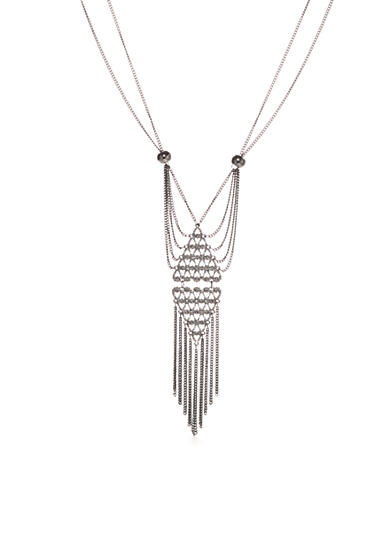 New Directions® Crystal Long Tassel Pendant Necklace