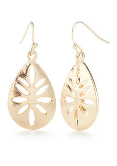 New Directions® Gold-Tone Pur Blush Teardrop Earrings