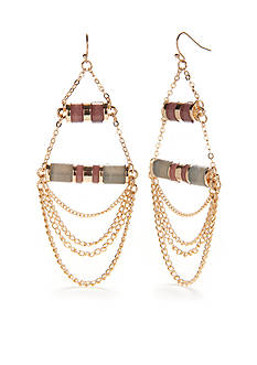 New Directions® Gold-Tone Natural Beauty Chandelier Earrings