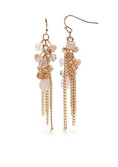 New Directions® Gold-Tone Natural Beauty Cluster Drop Earrings