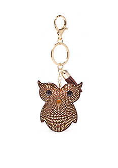 New Directions Gold-Tone Owl Key Ring