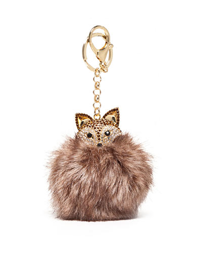 New Directions® Gold-Tone Fox Pom Pom Key Ring