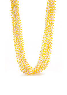New Directions® Gold-Tone Threaded Brights Yellow Multi-Strand Necklace