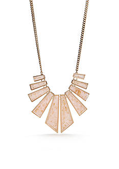 New Directions Gold-Tone Gold Dust Statement Necklace