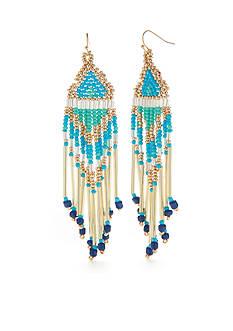 New Directions Gold-Tone Wind Chimes Tassel Drop Earrings