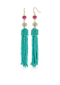 New Directions® Gold-Tone Oh So Fun Tassel Drop Earrings