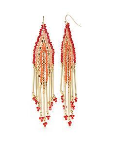 New Directions Gold-Tone Jasmine Tassel Drop Earrings
