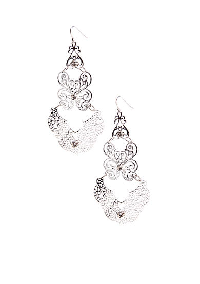 New Directions® Silver Filigree Chandelier Earring
