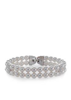 Nadri Double Row Pearl Bracelet